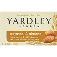 Yardley London Moisturizing Bar Oatmeal & Almond With Natural Oats 4.25 Oz (Pack Of 6)