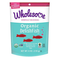 Wholesome Fair Trade Organic Delishfish, No Artificial Colors Or High Fructose Corn Syrup, Non Gmo & Gluten Free, Vegan, 6 Ounce (Pack Of 1)