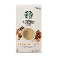 Starbucks Via Instant Caramel Latte, 5 Count (Pack Of 1)