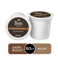 Peet'S Coffee House Blend, Dark Roast, 60 Count Single Serve K-Cup Coffee Pods For Keurig Coffee Maker