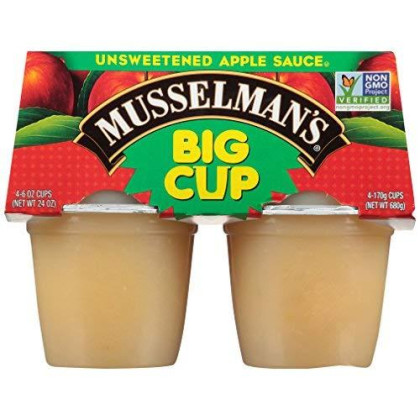 Musselman'S Unsweetened Apple Sauce - Low Calorie, Gluten Free Snack, Low Sodium, Kosher, Fat-Free, No Cholesterol, No High Fructuse Corn Syrup, From 100% Fresh American Grown Apples. (24Oz X 12)