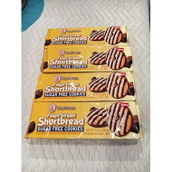 Voortman Fudge Striped Shortbread Sugar Free Cookies (Pack Of 4)