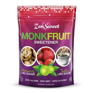 Zensweet All Natural Monk Fruit Sugar-Free Sweetener - Sugar Substitute, 1 : 1, Zero Glycemic Index, Gluten Free, Paleo & Keto Friendly, Non Gmo, Vegan,1 Lb