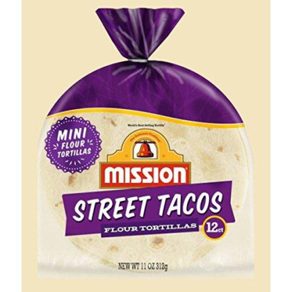 Mission Flour Street Taco Tortillas 11 Oz. / 12ct (Pack of 1) NEW