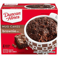 Duncan Hines Perfect Size For 1 Brownie Mix, Ready In About A Minute, Chocolate Brownie, 4 Individual Pouches, 2.64 Ounce (Pack Of 1)