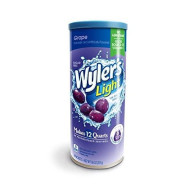 Wyler'S Light Canister Drink Mix - Grape Water Powder Enhancer Canister (6 Canisters That Make 12 Quarts Each)