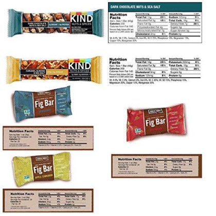 Snack Variety Pack, Healthy Bars Sampler & Care Package In An Elegant Blue Ribbon Gift Box (30 Count) By Blue Ribbon