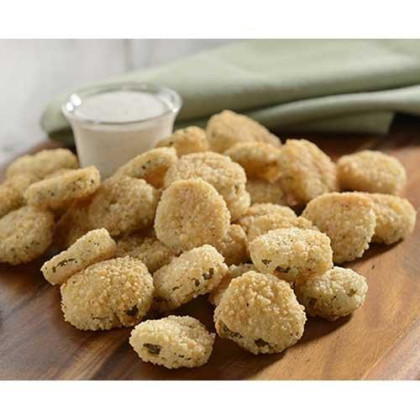 Harvest Creations Zesty Panko Breaded Pickle Chips, 2.5 Pound -- 4 Per Case.