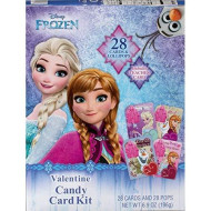 Disney Character Valentine'S Day Card Exchange Kit With Lollipops, 28 Count (Frozen)