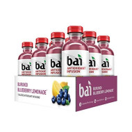 Bai Flavored Water, Burundi Blueberry Lemonade, Antioxidant Infused Drinks, 18 Fluid Ounce Bottles, 12 Count