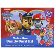 Nickelodeon Paw Patrol Valentine'S Day Card Exchange Kit With Lollipops, 28 Count