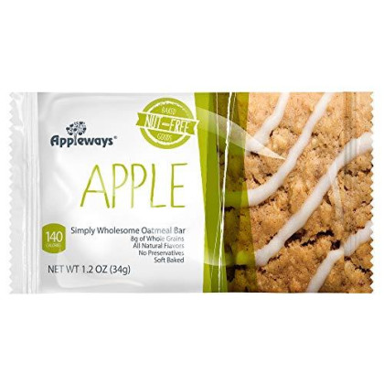 Appleways Simply Wholesome Oatmeal Bars Caddy, Apple, 15 Count