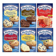 Martha White Muffin Mix Variety Sampler Pack Six Mixes Breakfast Snacks Sweet Treats