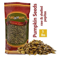 We Got Nuts Pumpkin Seeds Healthy Snacks 5Lbs Bag | Raw Pepitas No Preservatives Added, Non-Gmo, No Ppo, 100% Natural With No Shell | For Baking, Salad Toppings, Cereal, Roasting | Low Calorie Nuts,