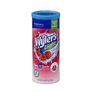 Wyler'S Light Canister Drink Mix - Raspberry Iced Tea Water Powder Enhancer Canister (6 Canisters That Make 12 Quarts Each)