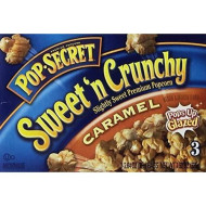 Pop Secret Sweet 'N Crunchy Caramel Popcorn, 3 Count, 7.92 Ounce 3 Boxes