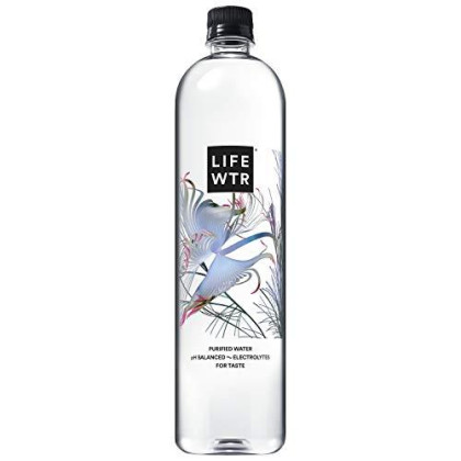 Lifewtr, Premium Purified Water, Ph Balanced With Electrolytes For Taste, 1000 Ml (6 Count) (Packaging May Vary)