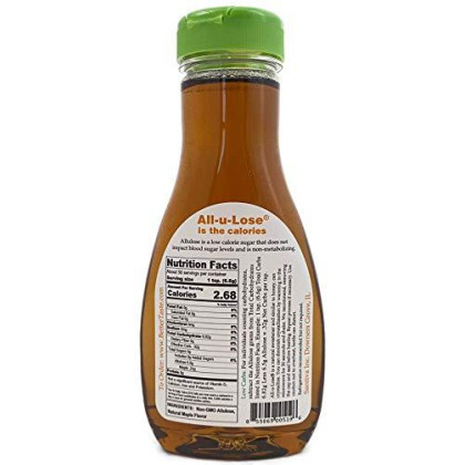 Maple Syrup, Natural, Non-Gmo, Low Carbs & Calories Made With Allulose, 11.75 Fl. Oz.