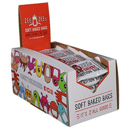 Zee Zees Cocoa Cherry Soft Baked Bars, Nut-Free, Whole Grain, Naturally Flavored and Colored, 2.2 oz Bars, 24 pack