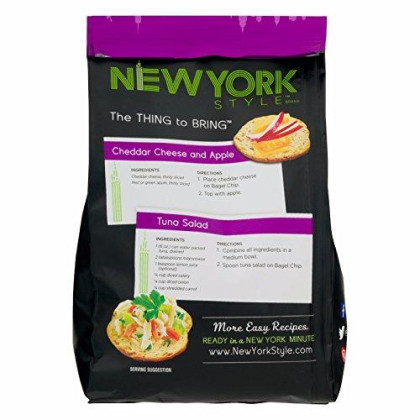 New York Style Bagel Crisps Everything, 7.2 Ounce - (Pack Of 12)Twice Baked, Never Fried