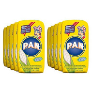 P.A.N. White Corn Meal - Pre-Cooked Gluten Free And Kosher Flour For Arepas, 1 Kilogram (35 Ounces / 2 Pounds 3.3 Ounces) (Pack Of 10)