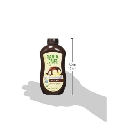 Santa Cruz Organic Ice Cream Topping Syrup, Chocolate, 15.5 Ounce