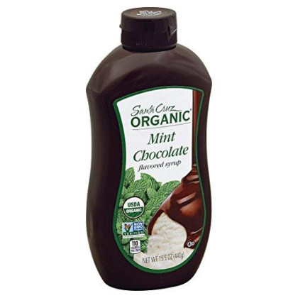 Santa Cruz Organic Ice Cream Topping Syrup, Mint Chocolate, 15.5 Ounce