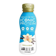 Iconic Protein Drinks, Vanilla Bean (12 Pack) | Low Carb Protein Shakes | Grass Fed, Lactose Free, Gluten Free, Non-Gmo, Kosher | High Protein Drink | Keto Friendly