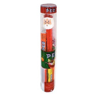 Pez Christmas Holiday Santa Tube Dispenser with Candy