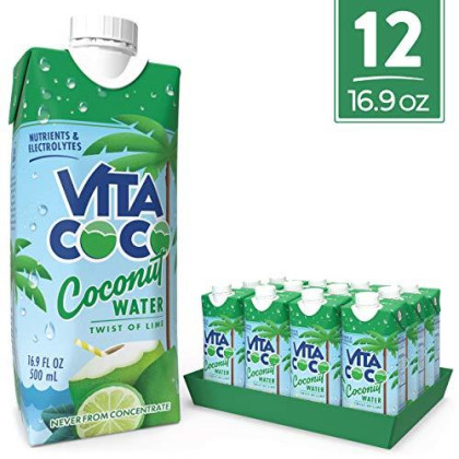 Vita Coco Coconut Water, Twist Of Lime - Naturally Hydrating Electrolyte Drink - Smart Alternative To Coffee, Soda, And Sports Drinks - Gluten Free - 16.9 Ounce (Pack Of 12)