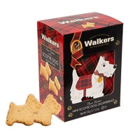 Walkers Shortbread Pure Butter Mini Scottie Dog Shortbread Cookies, 5.3 Ounce, Decorative Carton