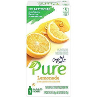 Crystal Light Pure Lemonade On The Go Drink Mix, 7-Packet Box (4 Box Pack)