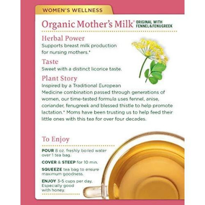 Traditional Medicinals Organic Mother'S Milk Women'S Tea, 32 Tea Bags (Pack Of 3)