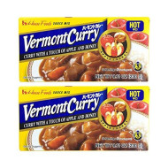 [ 2 Packs ] House Foods Vermont Curry Hot 8.11 Oz (230G)