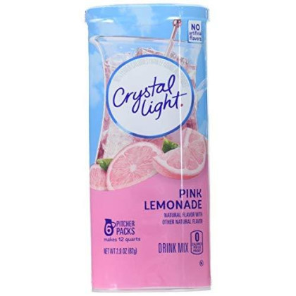 Crystal Light Drink Mix, Pink Lemonade,2.9 Ounce (Pack Of 6)