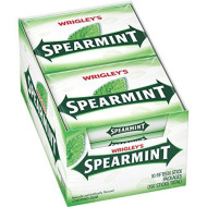 WRIGLEY'S Spearmint Chewing Gum, 15 pieces (10 packs)
