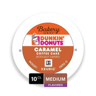 Dunkin' Donuts Bakery Series Caramel Coffee Cake Flavored Coffee, 10 K Cups For Keurig Coffee Makers