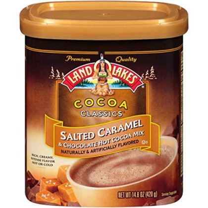 Land O Lakes Canister Hot Cocoa Mix, Salted Caramel, 14.8 Ounce