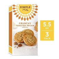 Simple Mills Crunchy Cookies, Toasted Pecan, 5.5 Ounce, 3 Count