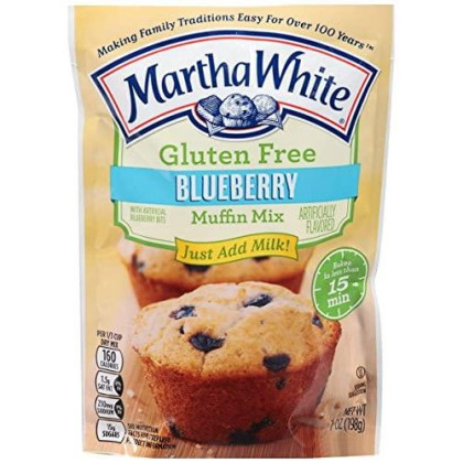 Martha White Gluten Free Blueberry Muffin Mix 7 Oz (Pack Of 6)