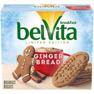 Belvita Gingerbread Breakfast Biscuits, 5 Count Box, 8.8 Ounce