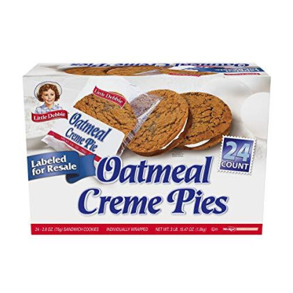 Little Debbie Oatmeal Creme Pies, 24 Count Per Pack, 63.5 Ounce