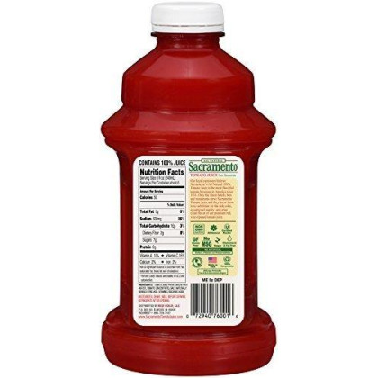 Sacramento Tomato Juice, 46 Oz Plastic Bottle