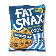 Fat Snax Cookies - Low Carb, Keto, And Sugar Free (Chocolate Chip, 12-Pack (24 Cookies)) - Keto-Friendly & Gluten-Free Snack Foods