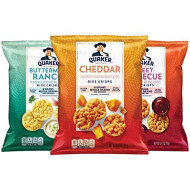 Quaker Rice Crisps, Gluten Free, 3 Flavor Savory Variety Mix, Single Serve 0.67oz, 30 count (00030000564646)