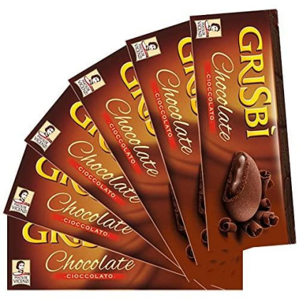 Matilde Vicenzi, Grisbi Double Chocolate, Cream Filled Cookies, 5.29 oz, Pack of 6