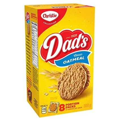 Christie Dad'S Classic Oatmeal Cookies 300G (10.58Oz) {Imported From Canada}