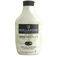 White Chocolate Cafe Sauce By Hollander Chocolate Co. | Gourmet White Chocolate Sauce With Real Cocoa Butter For Professional Or Home Baristas 14 Fl. Oz. Squeeze Bottle With Flip Cap