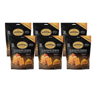 Sonoma Creamery Cheese Crisps - Cheddar 6 Count Pack Savory Real Cheese Snacks High Protein Low Carb Gluten Free Wheat Free (2.25 Ounces)