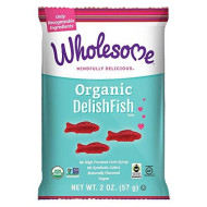 Wholesome Sweeteners Fair Trade Organic DelishFish, No Artificial Colors or High Fructose Corn Syrup, Non GMO & Gluten Free, Vegan, 2 Ounce (Pack of 12)